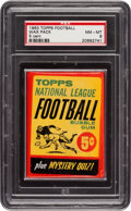 Football Cards:Singles (1960-1969), 1963 Topps Football 5-Cent Unopened Pack PSA NM-MT 8. ...
