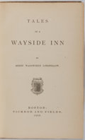 Books:Literature Pre-1900, Henry Wadsworth Longfellow. Tales of a Wayside Inn. Ticknorand Fields, 1863. Publisher's blind stamped cloth wi...