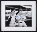 "Autographs:Photos, 1990's Mickey Mantle ""T.C. 1956"" Signed Oversized Photograph...."