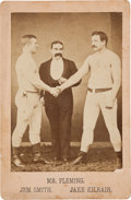 Boxing Collectibles:Memorabilia, 1880's Jake Kilrain vs. Jem Smith Original Cabinet Photograph....