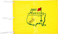 Golf Collectibles:Autographs, 2001 Arnold Palmer Signed Masters Flag with Ultra-Rare Notation....