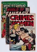 Golden Age (1938-1955):Miscellaneous, Comic Books - Assorted Golden Age Comics Group (Various Publishers, 1950s) Condition: Average GD/VG.... (Total: 17 Comic Books)