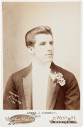 Boxing Collectibles:Memorabilia, 1894 James J. Corbett Original Cabinet Photograph....