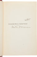 "Boxing Collectibles:Autographs, 1909 Mike Donovan Signed ""The Roosevelt That I Know"" SignedHardcover Book...."