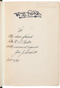 """Boxing Collectibles:Autographs, 1929 James J. Corbett Signed """"The Roar of the Crowd"""" Hardcover Book. ..."""