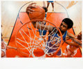 Basketball Collectibles:Photos, Circa 2000 Kareem Abdul-Jabbar Signed Limited Edition LargePhotograph by Neil Leifer....