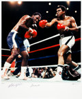 Boxing Collectibles:Memorabilia, 1996 Muhammad Ali & Joe Frazier Signed Limited Edition LargePhotograph by Neil Leifer....