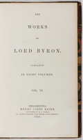 Books:Literature Pre-1900, [Lord Byron]. The Works of Lord Byron, Volume VI. HenryCarey Baird, 1854. Part of an eight volume set. Contempo...