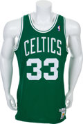 Basketball Collectibles:Uniforms, 1987-88 Larry Bird Game Worn Signed Boston Celtics Jersey WithProvenance. ...