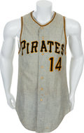 Baseball Collectibles:Uniforms, 1965 Pittsburgh Pirates Game Worn Jersey....