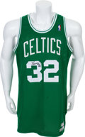 Basketball Collectibles:Uniforms, 1987-88 Kevin McHale Game Worn Signed Boston Celtics Jersey WithProvenance....