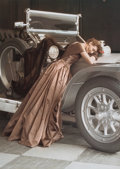 Photographs:20th Century, NORMAN PARKINSON (British, 1913-1990). Wenda Over the Rolls,1907 Rolls-Royce Silver Ghost wearing a Molyneux Dress, Vogu...