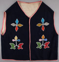 American Indian Art:Beadwork and Quillwork, A PRAIRIE BEADED CLOTH VEST . c. 1920...