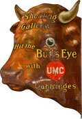 Advertising:Signs, UMC Cartridges Large Advertising Bull's Eye Tin Sign....