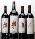 Red Bordeaux, Chateau Mouton Rothschild. Pauillac. 2003 1scl, 1tl, 1htsl, 2hwasl Bottle (3). 2003 Magnum (1). ... (Total: 3 Btls. & 1 Mag. )