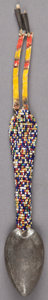 American Indian Art:Beadwork and Quillwork, A SIOUX BEADED METAL SPOON...