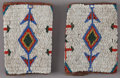 American Indian Art:Beadwork and Quillwork, A PAIR OF SIOUX BEADED HIDE CUFFS...