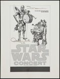 "Movie Posters:Science Fiction, Star Wars Concert (20th Century Fox, 1978). Autographed Ad Slick(19"" X 25""). Science Fiction.. ..."