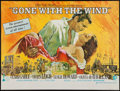 "Movie Posters:Academy Award Winners, Gone with the Wind (Cinema International, R-1968). British Quad(30"" X 40""). Academy Award Winners.. ..."