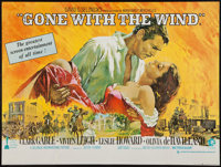 "Gone with the Wind (Cinema International, R-1968). British Quad (30"" X 40""). Academy Award Winners"