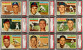 Baseball Cards:Lots, 1956 Topps Baseball PSA Mint 9 Collection (9). ...