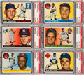 Baseball Cards:Lots, 1955 Topps Baseball Mid To High Grade Collection (288) With Almost100 High Numbers. ...