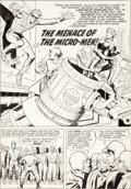 Original Comic Art:Panel Pages, Joe Simon and Jack Kirby Double Life of Private Strong #1Title Page 25 Original Art (Archie, 1959)....