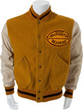 Football Collectibles:Uniforms, 1950's Washington Redskins Game Worn Sideline Jacket....