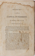 Books:Americana & American History, [U.S. Government]. Miscellaneous U.S. Legislative Reports DealingWith Capital Punishment, Banking, Mexican War, Admission of ...