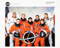 Autographs:Celebrities, Space Shuttle Discovery (STS-114) Crew-Signed Color Photo....