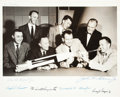 Autographs:Celebrities, Mercury Seven Astronaut Photo Signed by Six (Missing Schirra),Originally from the Personal Collection of Dr. Shirley Thomas....