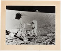 Autographs:Celebrities, Apollo 12 Large B&W Mission Photo Signed by Pete Conrad on theMat, Directly from the Jim Rathmann Collection....