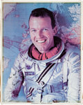 Autographs:Celebrities, Gordon Cooper Signed Color Photo Directly from the Jim Rathmann Collection....