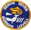 Explorers:Space Exploration, Gemini 7 Flown Embroidered Mission Insignia Patch Directly from the Jim Rathmann Collection....