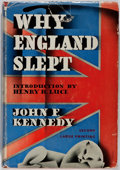 Books:Americana & American History, John F. Kennedy. Why England Slept. Wilfred Funk, Inc.,1940. Second printing. Publisher's cloth and dust jacket...