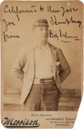 Boxing Collectibles:Autographs, 1892 Billy Delaney Original Signed Cabinet Card. ...