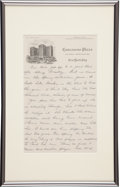 Autographs:Letters, 1939 Earle Combs Handwritten Signed Letter with Heartbreaking LouGehrig Content....