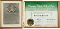"Baseball Collectibles:Others, 1964 Clarence ""Pants"" Rowland Wisconsin Hall of Fame Certificate...."