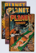 Golden Age (1938-1955):Science Fiction, Planet Comics Group (Fiction House, 1945-48) Condition: AverageGD-.... (Total: 5 Comic Books)