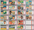 Baseball Cards:Sets, 1956 Topps Baseball Complete Set Plus Checklists (342) - Every CardGraded PSA NM-MT 8! ...