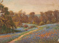Texas:Early Texas Art - Regionalists, ROLLA SIMS TAYLOR (American, 1872-1970). Field of TexasBluebonnets. Oil on canvas. 12-1/4 x 16-1/4 inches (31.1 x 41.3...