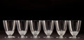 Art Glass:Lalique, SIX R. LALIQUE CLEAR GLASS NIPPON WINE GOBLETS . Circa 1930.Stenciled: R. LALIQUE, FRANCE . 2-7/8 inches high (... (Total: 6Items)