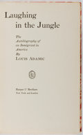Books:Biography & Memoir, Louis Adamic. INSCRIBED. Laughing in the Jungle. TheAutobiography of an Immigrant in America. Harper &Brothers...