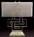Art Glass:Lalique, R. LALIQUE CLEAR AND FROSTED GLASS ENTRELACS LAMP . Circa1926. 12 inches high (30.5 cm). ...