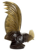 Art Glass:Lalique, R. LALIQUE SMOKY TOPAZ GLASS COQ NAIN MASCOT . Circa 1928.Molded: R. LALIQUE, FRANCE. 7-7/8 inches high (20.1 c...