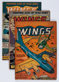 Golden Age (1938-1955):War, Wings Comics Group (Fiction House, 1942-45) Condition: AverageVG+.... (Total: 3 Comic Books)