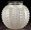 Art Glass:Lalique, R. LALIQUE CLEAR AND FROSTED GLASS OURSIN VASE . Circa 1935.Stenciled: R. LALIQUE, FRANCE . 7-1/8 inches high (...