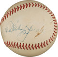 Autographs:Baseballs, Late 1940's Babe Ruth, Cy Young, Ty Cobb & Tris Speaker SignedBaseball....