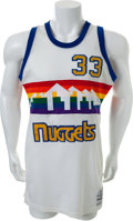 Basketball Collectibles:Uniforms, 1985-89 Calvin Natt Game Worn Denver Nuggets Jersey and Shorts. ...