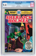 Bronze Age (1970-1979):Miscellaneous, Sherlock Holmes #1 (DC, 1975) CGC NM 9.4 White pages....